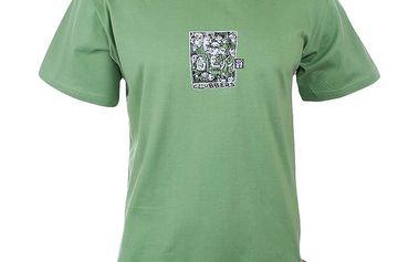 Pánské zelené tričko s potiskem na hrudi Respiro