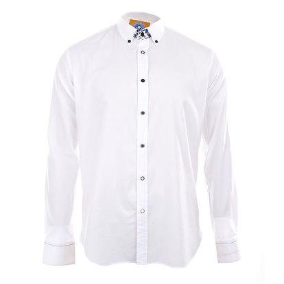Pánská bílá košile s dlouhým rukávem A Fish Named Fred