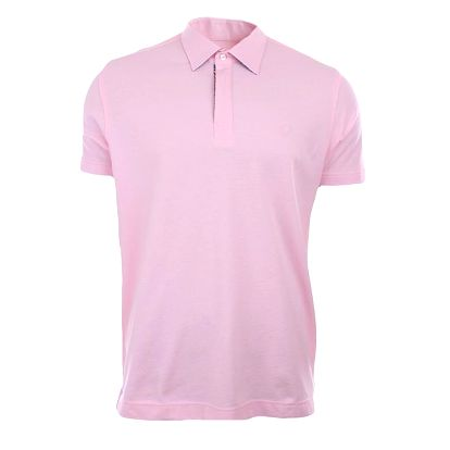 Pánské růžové polo tričko A Fish Named Fred