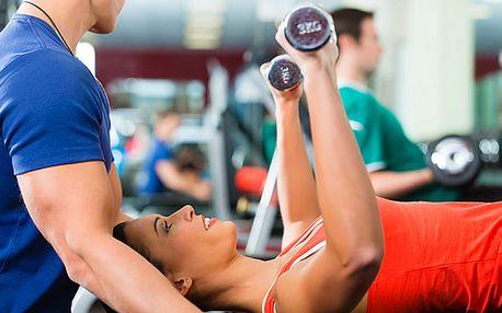 5x hodinový trénink ve fitness pro dvojici pod vedením trenéra