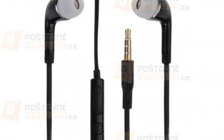 Černá sluchátka do uší s 3.5mm konektorem a poštovné ZDARMA! - 20711555