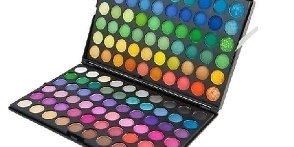 Velká paleta 120 barev očních stínů. Bezva darek pro kazdou ženu !