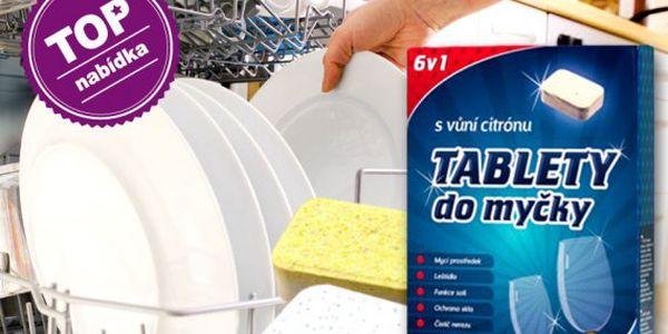 100 ks tablet do myčky 6v1 s vůní citrónu