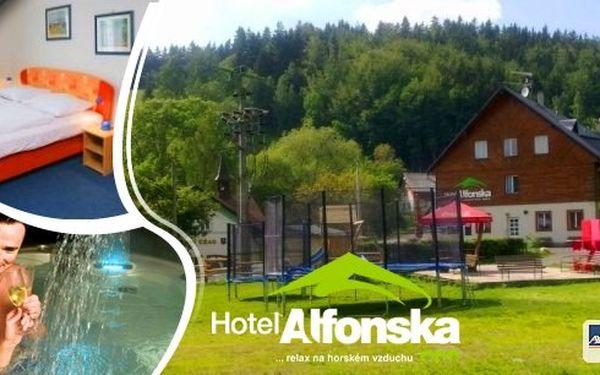 Letní dovolená ve vzdušných lázních Benecko v hotelu Alfonska na 6 dní pro 2 osoby s polopenzí, obědem, privátní vířivkou, táborákovým balíčkem a mnoho dalších prázdninových výhod!! Dítě do 6 let zdarma včetně stravy!!