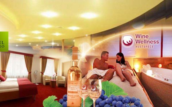 """**** WINE WELLNESS Hotel Centro JIŽNÍ MORAVA! TŘI BÁJEČNÉ DNY ve DVOU s bohatou POLOPENZÍ, RELAXAČNÍ MASÁŽÍ či PEELINGEM, vstupem do exkluzivního """"Vinného"""" Wellness, KOUPALIŠTĚM a slevou na Aquapark, jen za 3990 Kč!"""