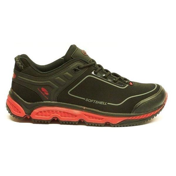 Pánské černo-červené trekové boty Numero Uno