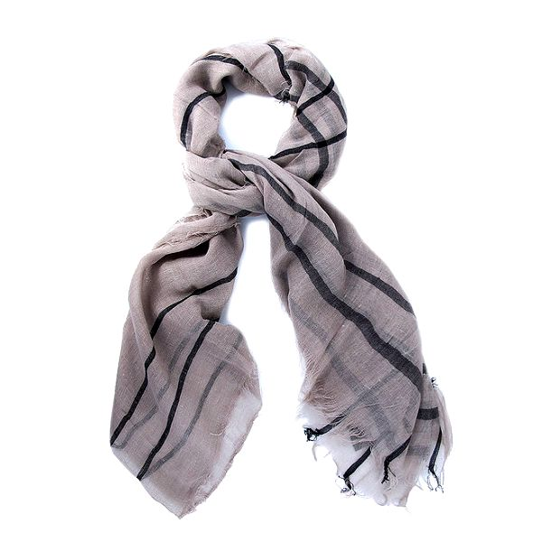 Dámský šedý šátek s proužkem Belle & Bloom