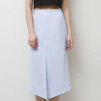 Dámská modrá sukně s cípem Mija