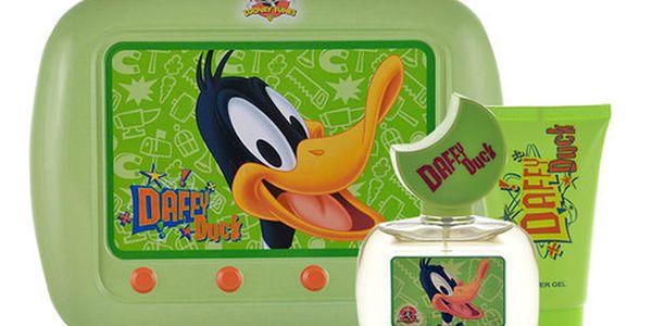 Looney Tunes Daffy Duck EDT dárková sada U - Edt 50ml + 75ml sprchový gel