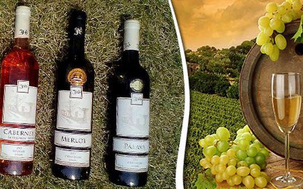 4 lahve přívlastkového vína z Mikulovské vinařské podoblasti.