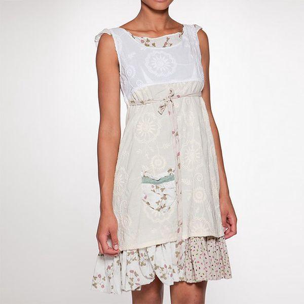 Dámské krémově bílé vrstvené šaty Ian Mosh