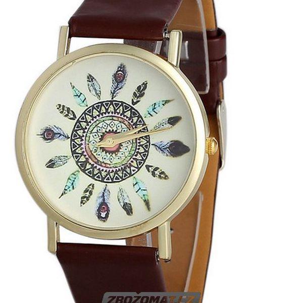 Elegantní hodinky s pírky!