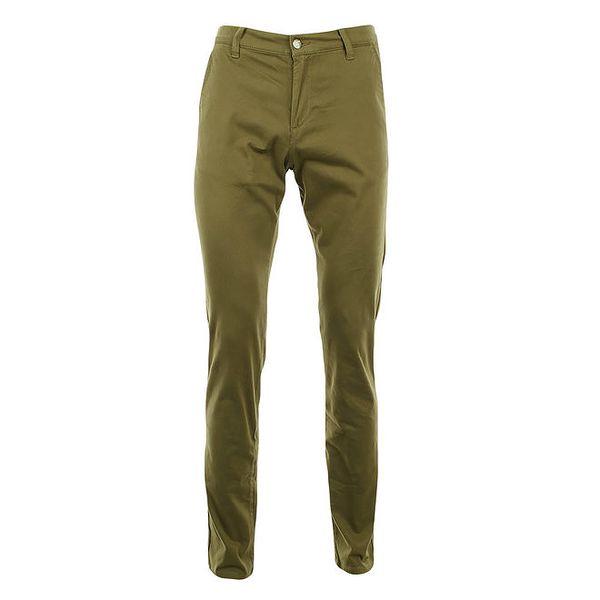 Dámské hnědozelené slim chino kalhoty Monkee Genes