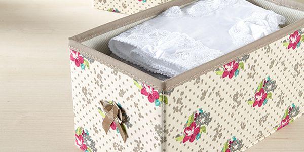 Úložné boxy s květinovým vzorem, 2 ks. Ve všech zásuvkách tak zavládne pořádek a přehled!