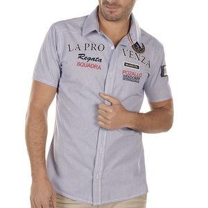 Pánská kostkovaná košile s výšivkou na hrudi Bendorff