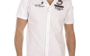 Pánská bílá košile s výšivkou na hrudi Bendorff