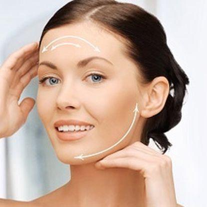 Hodinové bezbolestné a intenzivní omlazující ošetření obličeje radiofrekvencí a fototerapií.