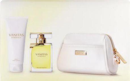 Versace Vanitas EDT dárková sada W - Edt 100ml + 100ml tělové mléko + kosmetická taška