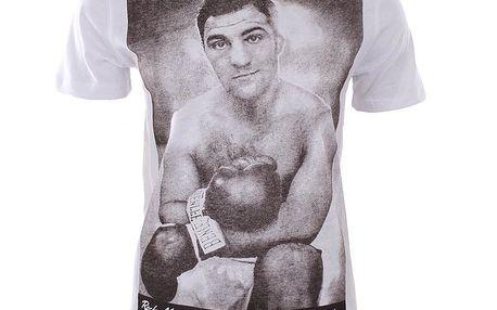 Pánské bílé tričko s potiskem boxera Benlee