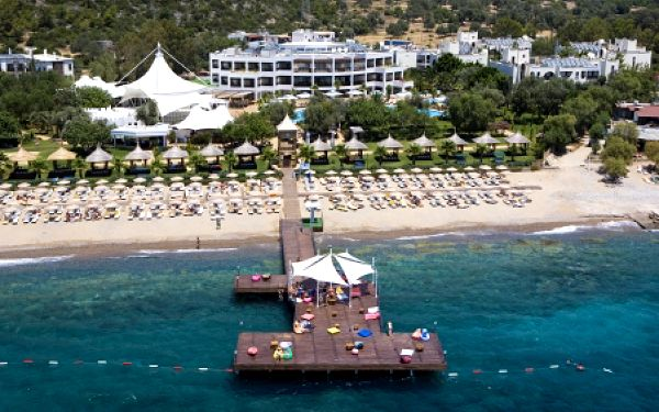 Latanya Beach, Bodrum, Turecko, letecky, All inclusive