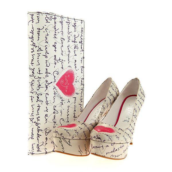 Dámské lodičky a psaníčko Elite Goby - s milostným dopisem