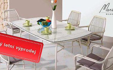 Výprodej! Luxusní jídelní stůl a 6 židlí Provence