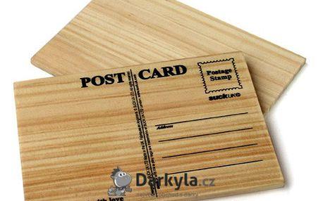 Dřevěný korespondenční lístek