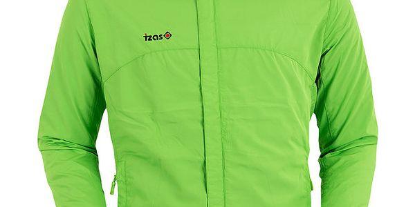 Světle zelená běžecká bunda Izas