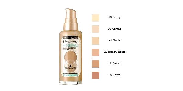 Maybelline AFFINITONE MINERAL 010 make-up 30ml