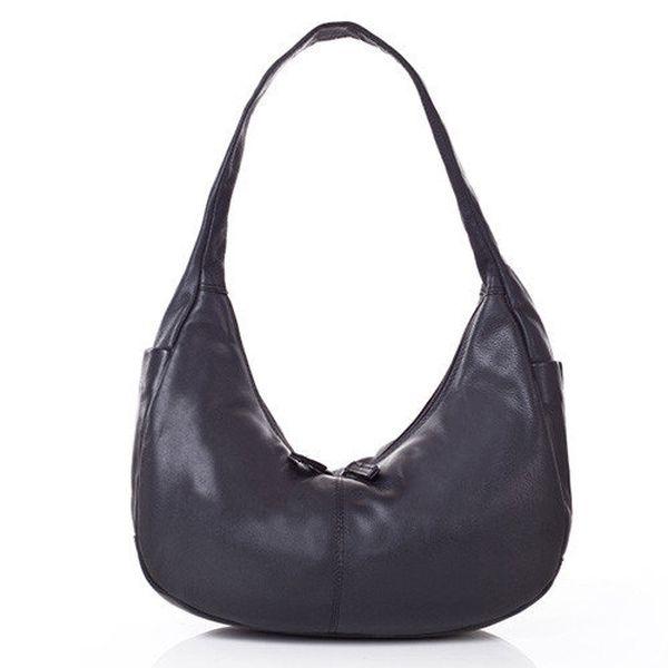 Dámská černá kabelka z kůže Gianni Conti
