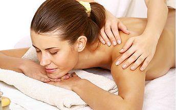 Klasická masáž zad, rukou a chodidel ve 40 minutách