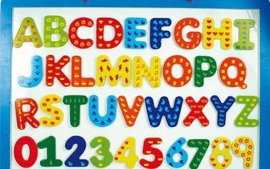 LENA 65822 - Magnetická tabule dřevěná, písmena, číslice