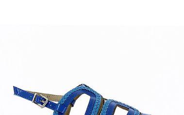 Dámské modré páskové sandály Shoes and the City