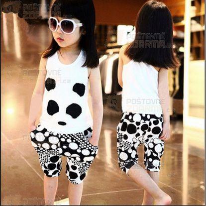 Dívčí set trička a kalhot s motivem pandy a poštovné ZDARMA! - 20411751