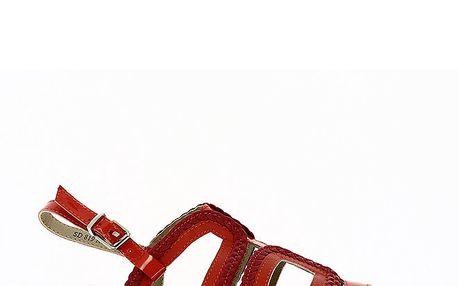 Dámské červené páskové sandály Shoes and the City
