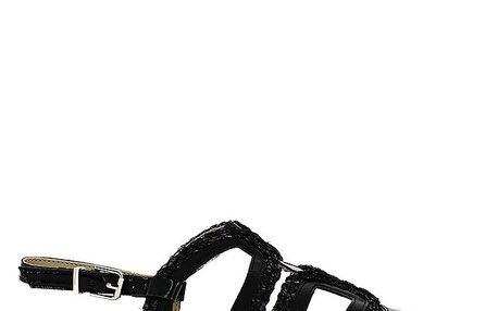 Dámské černé páskové sandály Shoes and the City