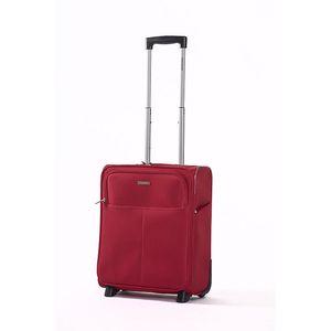 Červený kabinový kufr Ravizzoni se dvěma kolečky