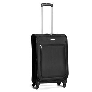 Větší černý kufr s kolečky Ravizzoni
