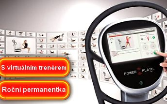 ROČNÍ permanentka na Power Plate s VIRTUÁLNÍM TRENÉREM
