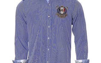 Pánská modře proužkovaná košile Signore dei Mari