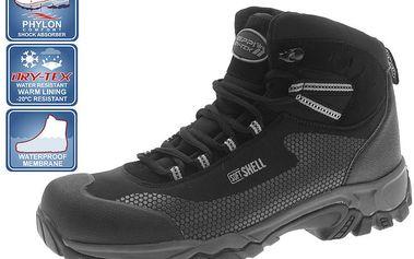 Pánské zimní kotníčkové boty v černé barvě Beppi