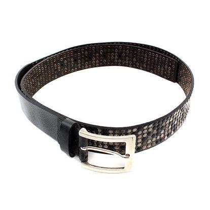 Pánský tmavě hnědý pásek s cvočky Bagatt