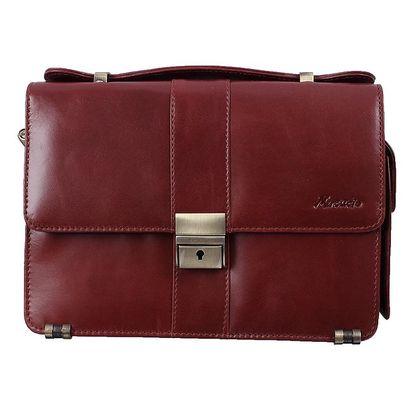 Pánská bordó kožená taška s poutkem Mercucio