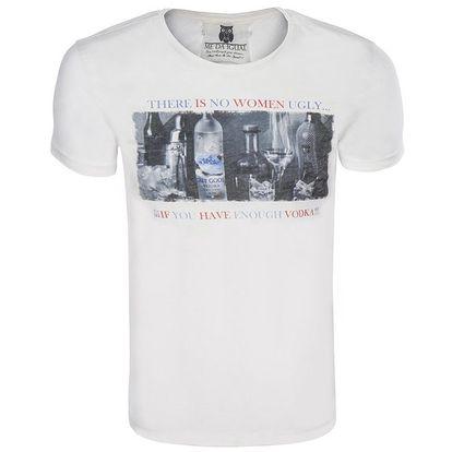 Pánské krémové tričko s obrázkem a nápisem Me Da Igual