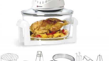 Multifunkční horkovzdušný hrnec ROHNSON R-297 vám pomůže při smažení, pečení, grilování, vaření v páře, dušení a rozmrazování.