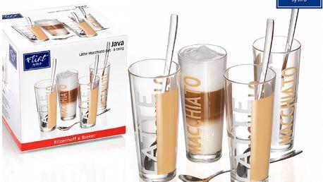 Ritzenhoff&Brecker 4ks sklenice na Latte + lžičky