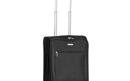 Menší černý kufr s kolečky Ravizzoni