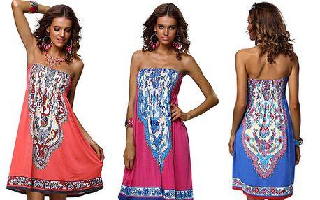 Letní šaty v retro stylu s poštovným v ceně