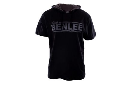 Pánské černé tričko s kapucí Benlee