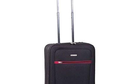Černý kufr s červeným detailem Ravizzoni